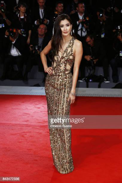 Praya Lundberg walks the red carpet ahead of the 'Loving Pablo' screening during the 74th Venice Film Festival at Sala Grande on September 6 2017 in...
