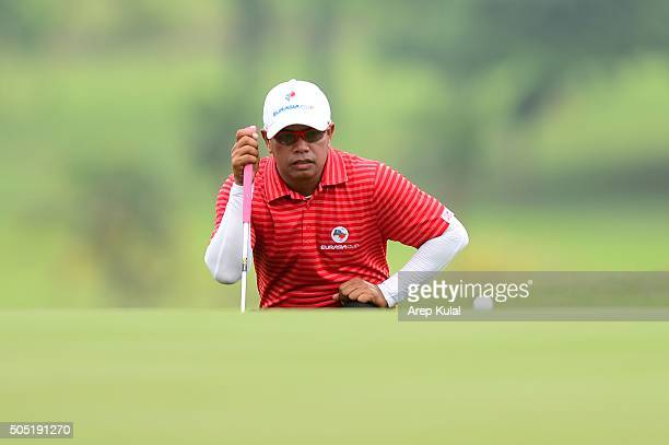 Prayad Marksaeng of Team Asia pictured during the day two of the EurAsia 2016 presented by DRBHICOM at Glenmarie GCC on January 16 2016 in Kuala...