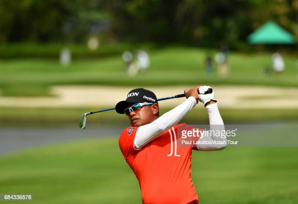 Prayad Marksaeng of Thaiand during round one of the 2017 Thailand Open at the Thai Country Club on May 18 2017 in Bangkok Thailand