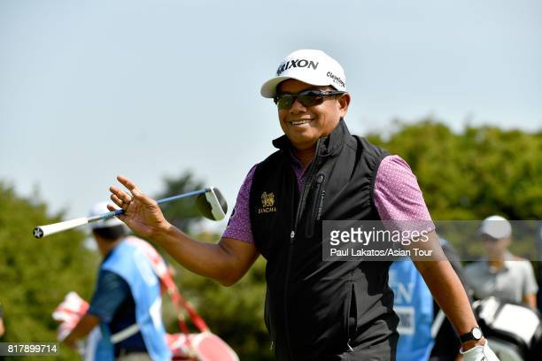 Prayad Marksaeng of Thailand during a practice round prior to the 146th Open Championship at Royal Birkdale on July 18 2017 in Southport England