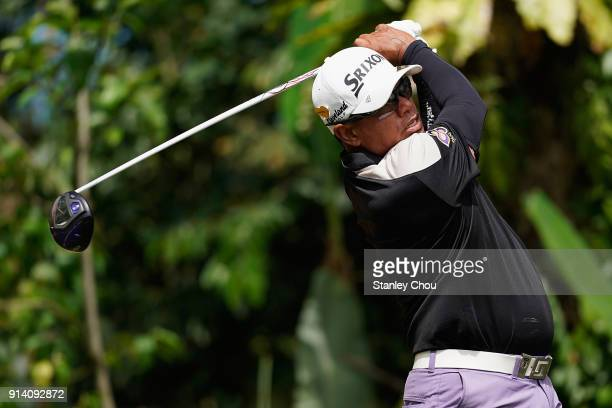 Prayad Marksaeng of Thailand during day four of the Maybank Championship Malaysia at Saujana Golf and Country Club on February 4 2018 in Kuala Lumpur...
