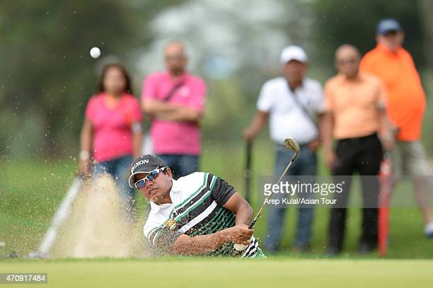 Prayad Marksaeng of Thailand during round 2 of the Asian Tour's US$750000 CIMB NIAGA Indonesia Masters at Royale Jakarta Golf Club on April 24 2015...