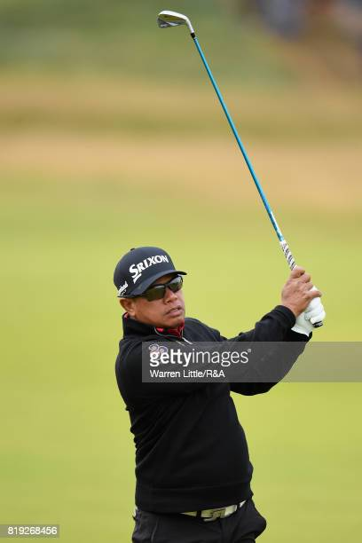 Prayad Marksaeng of Thailand during the first round of the 146th Open Championship at Royal Birkdale on July 20 2017 in Southport England