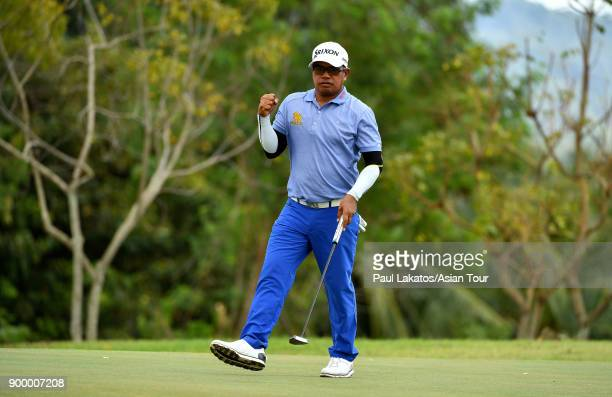 Prayad Marksaeng of Thailand pictured during the final round of the Royal Cup at the Phoennix Gold GGC on December 31 2017 in Pattaya Thailand