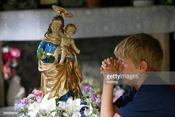 Prayer at NotreDame de la gorge