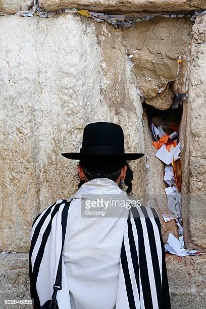 Prayer at the Western wall Jerusalem