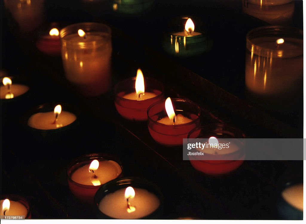 Prayer Candles Stock Photo - Getty Images
