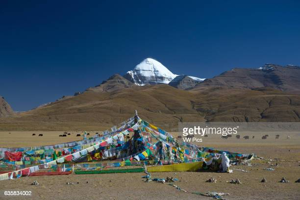 Prayer Flags at the foot of Mount Kailash in Tibet