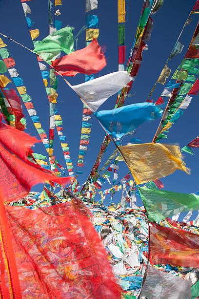 Prayer flags in wind