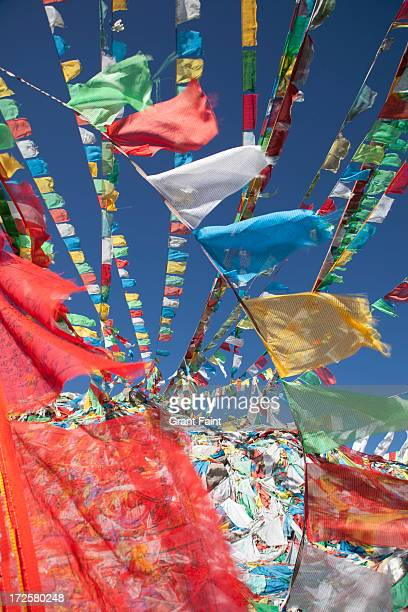 Prayer flags in wind