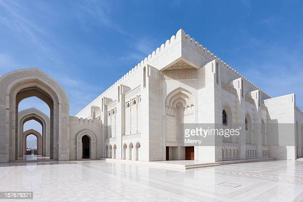prayer hall grand mosque sultan qaboos - qaboos bin said al said stock pictures, royalty-free photos & images