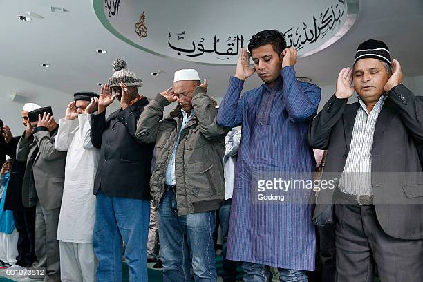 Prayer in an Ahmadiyya mosque SaintPrix France