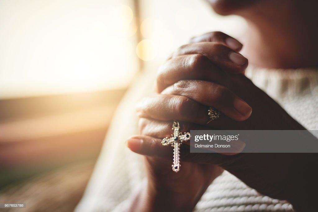 Gebed is de pijler van kracht : Stockfoto