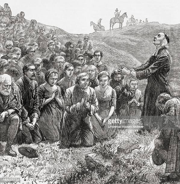 A Prayer Meeting Of The Covenanters In The 17Th Century From The Book Our Own Magazine Published 1885