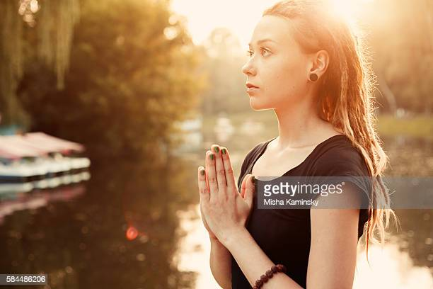 prayer - aura stock pictures, royalty-free photos & images