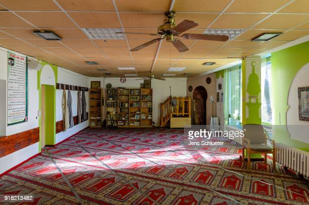 A prayer room of the Muslim cultural center and mosque as Aydan Ozoguz German Federal Commissioner for Immigration Refugees and Integration visits...