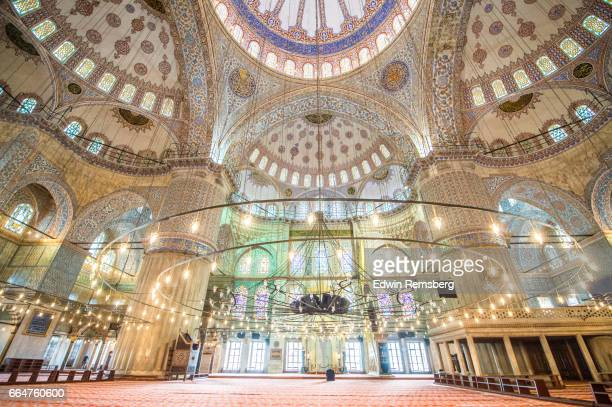 prayer space - blue mosque stock pictures, royalty-free photos & images