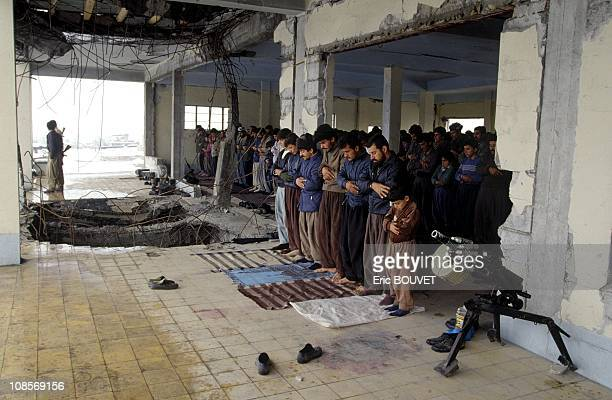 Prayer time in the mosque in Halabja Iraq in April 1991