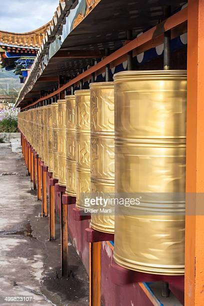 CONTENT] Prayer wheels in a Tibetan monastery in Ganzi in Sichuan province of China