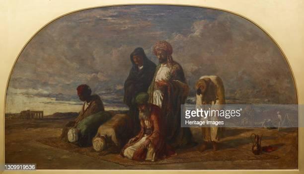 Prayers in the Desert, 1840-1849. Artist William James Muller. .