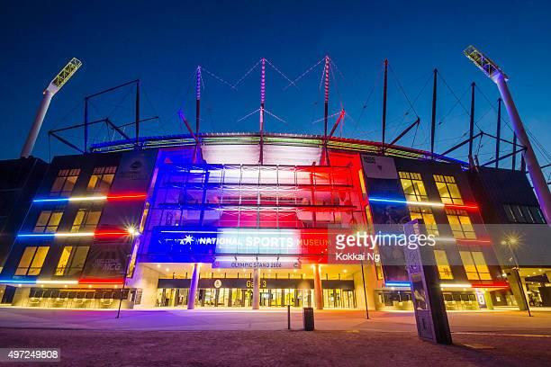 #PrayersForParis: Melbourne Cricket Ground (MCG)