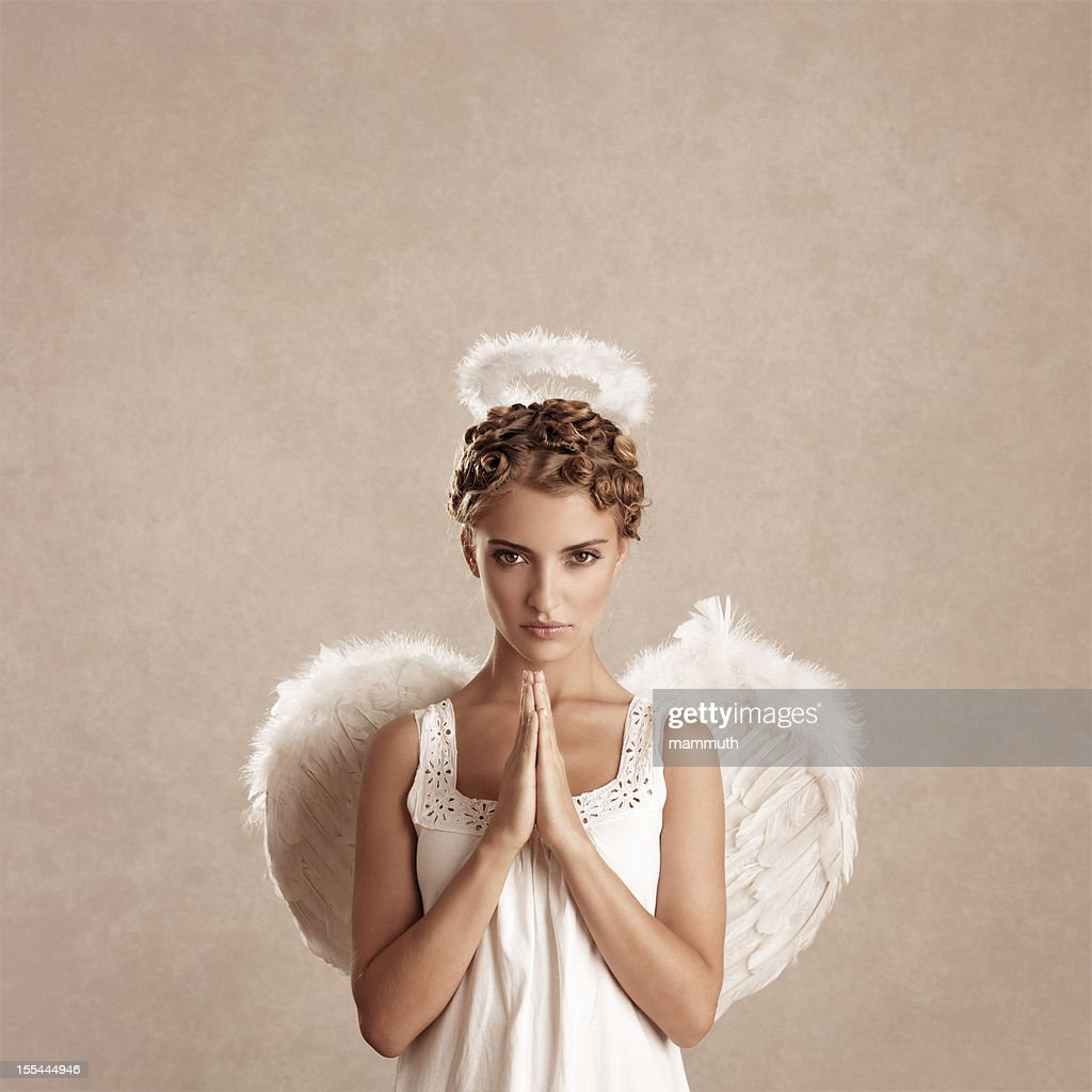praying angel : Stock Photo