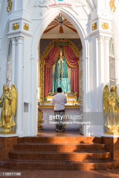praying at church, kanyakumari - religious event stock pictures, royalty-free photos & images