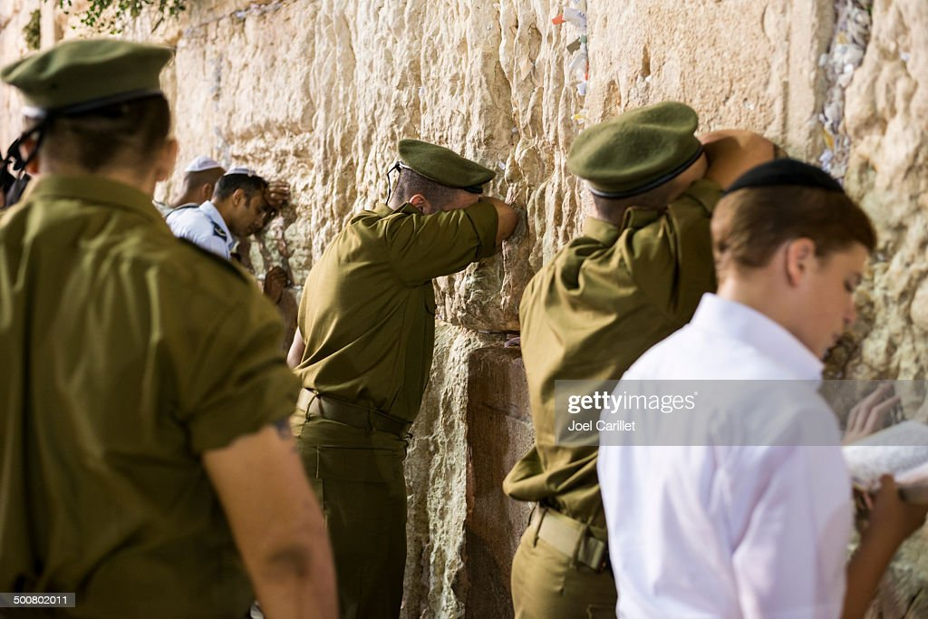 Praying at the Western Wall : Stock Photo