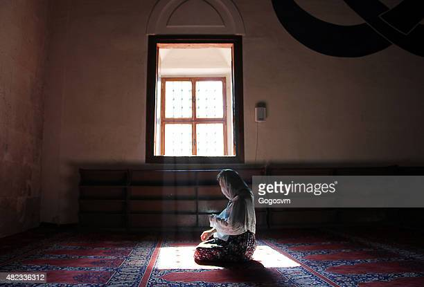 praying in edirne selimiye mosque - muslim prayer stock pictures, royalty-free photos & images