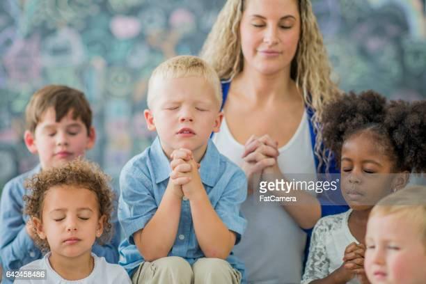 Praying in Sunday School