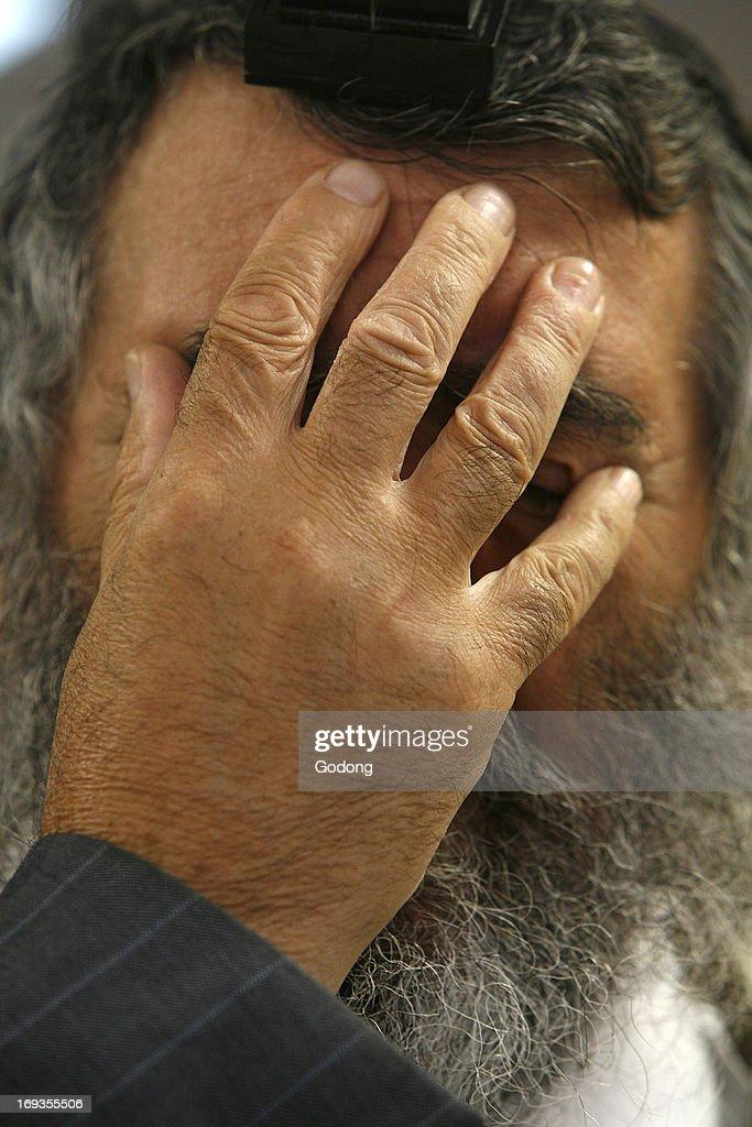 Praying Jew, Shema Israel prayer gesture News Photo | Getty Images