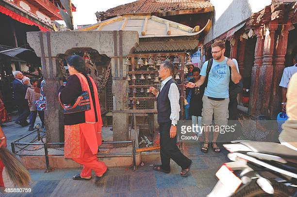 Praying on the streets of Kathamandu