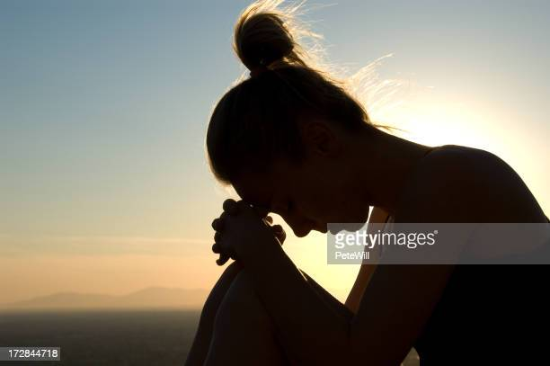 Praying Silhouette