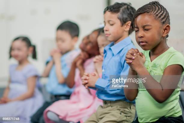 Praying Together in Sunday School