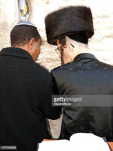 Praying together in the Western Wall