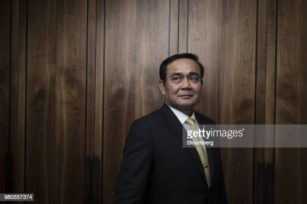Prayuth ChanOcha Thailand's prime minister gestures during an interview in London UK on Thursday Jun 21 2018 Thailand wants to reach a trade...
