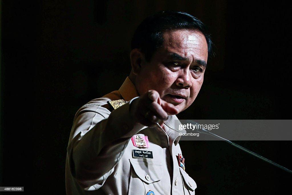 Thailand Prime Minister Prayuth Chan-Ocha Delivers Speech On Development Plan
