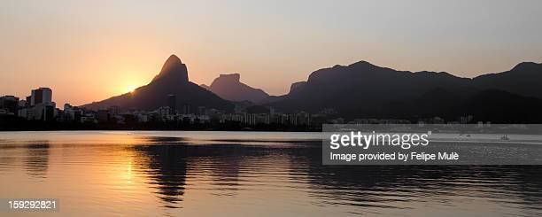 Pôr-do-sol, Lagoa Rodrigo de Freitas/RJ