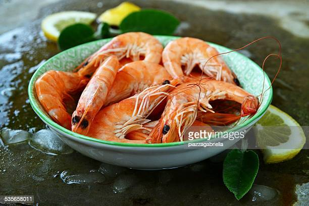 Pre cooked shrimps in bowl