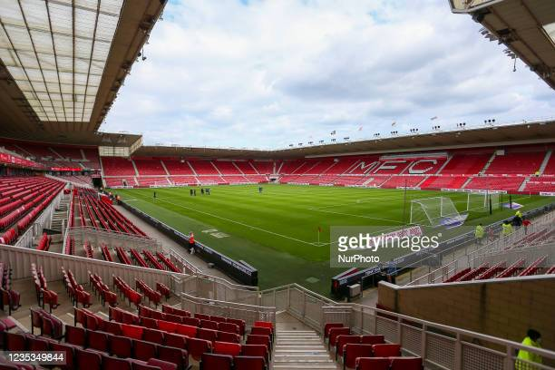 Pre Game Photo of the Riverside Stadium ahead of kick off during the Sky Bet Championship match between Middlesbrough and Blackpool at the Riverside...