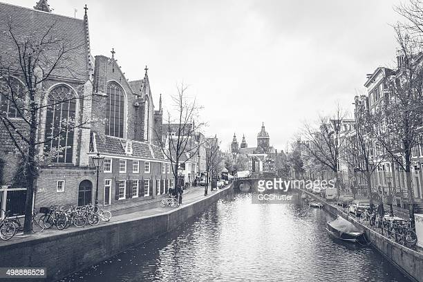 Pre historic views from the Canals of Amsterdam, Netherlands