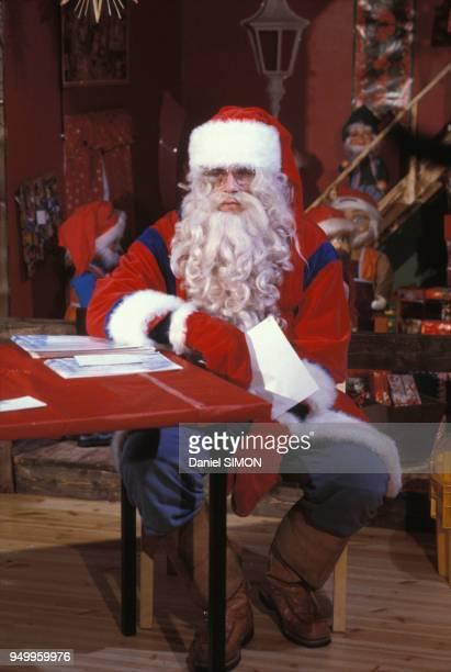 Père Noël en novembre 1988 à Rovaniemi en Finlande