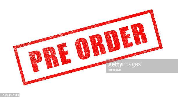 'Pre Order' Red Rubber Stamp