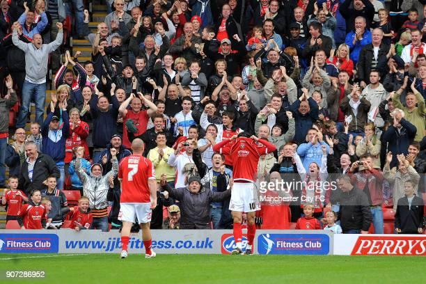 Pre Season Friendly Barnsley v Manchester City Oakwell Barnsley's Daniel Bogdanovic celebrates after scoring