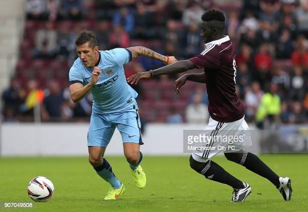 Pre Season Friendly Hearts v Manchester City Tynecastle Stadium Manchester City's Stevan Jovetic
