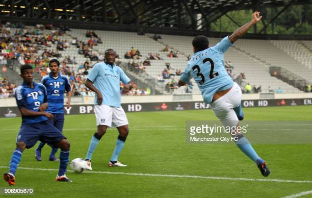 Pre Season Friendly Manchester City v Al Hilal Tivoli Neu Manchester City's Carlos Tevez has a shot on goal