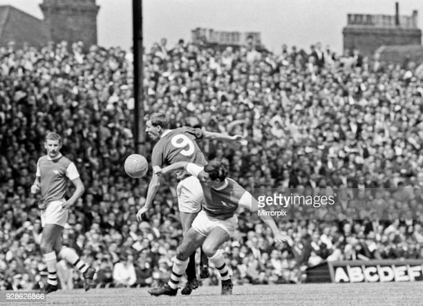 Pre season friendly match at Highbury Arsenal 3 v Glasgow Rangers 0 Rangers' Alex Ferguson battles for the ball 5th August 1967