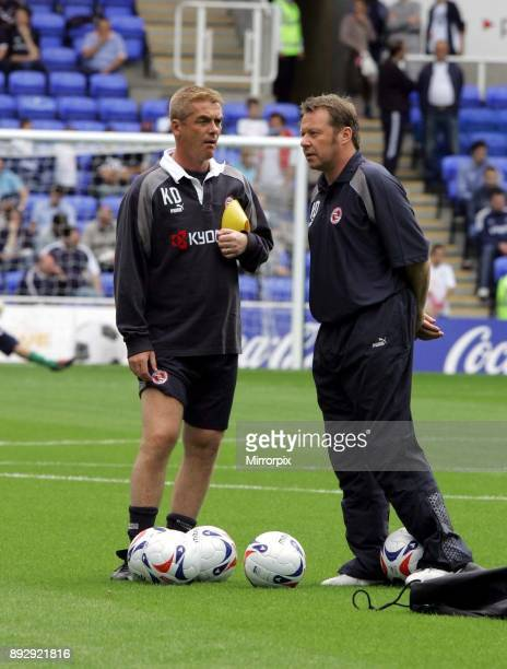 Pre season friendly match at the Madejski Stadium. Reading v Tottenham Hotspur. Reading management staff Wally Downes and Kevin Dillon, 30th July...
