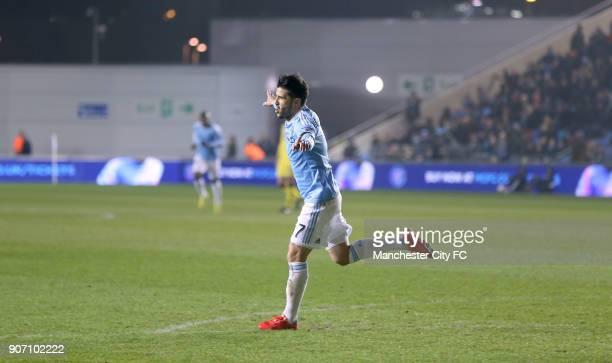 Pre Season Friendly New York City v St Mirren City Academy Stadium New York City FC's David Villa celebrates scoring