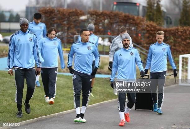 Pre Season Friendly New York City v St Mirren New York City FC Training Session City Academy Stadium New York City FC's David Villa makes his way out...